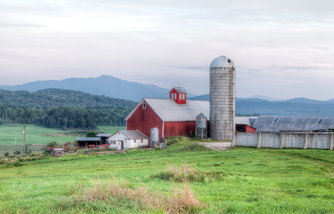 Photograph Barn and Slio, Fletcher, Vermont. by Stanton Champion on 500px