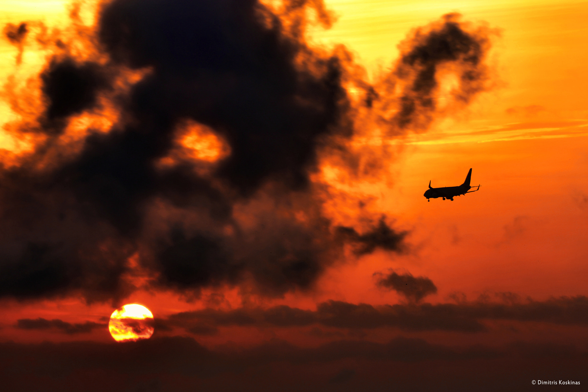 Photograph sunset landing by Dimitris Koskinas on 500px