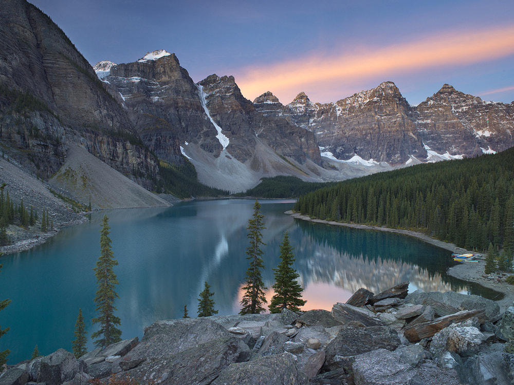 Photograph Morraine Lake Dawn by Antony Spencer on 500px