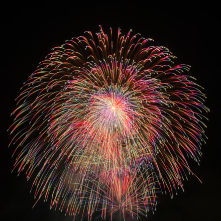 Firework , Suwa lake ,Japan, Pentax 645D, smc PENTAX-FA 645 45mm F2.8