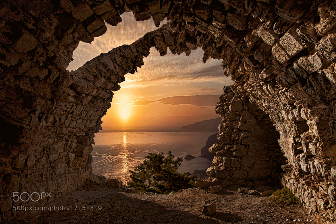 Photograph Sunset from the Castle of Monolithos by Dimitris Koskinas on 500px