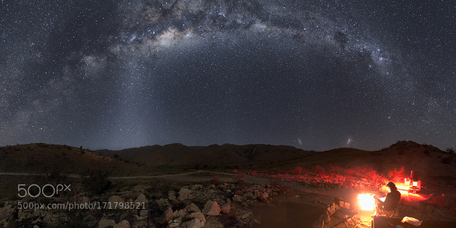 Magellanic Clouds and Zodiacal light