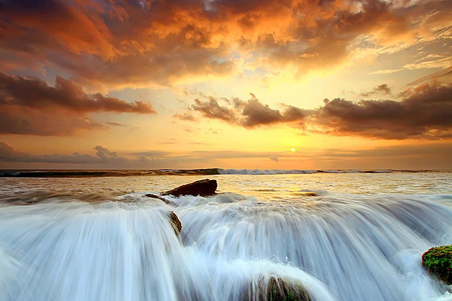 Photograph Sun and Wave by Agoes Antara on 500px