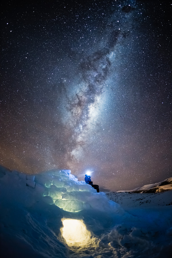 Igloo under night sky by Andrew Peacock on 500px.com
