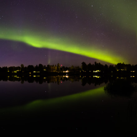 Northern lights over Kiiminki river