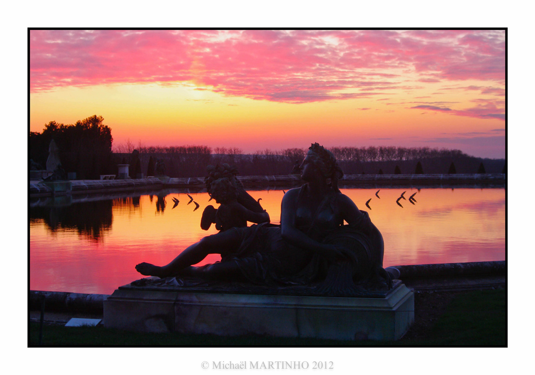 Photograph Pink sunset at Versailles by Michaël Martinho on 500px