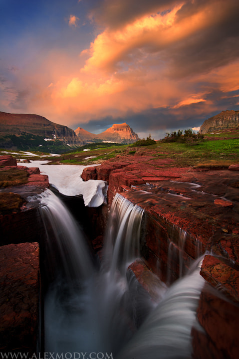 Photograph Triple Falls at Sunset by Alex Mody on 500px