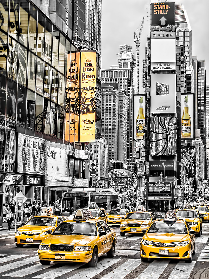 Photograph Yellow Times Square by Giscard Matar on 500px