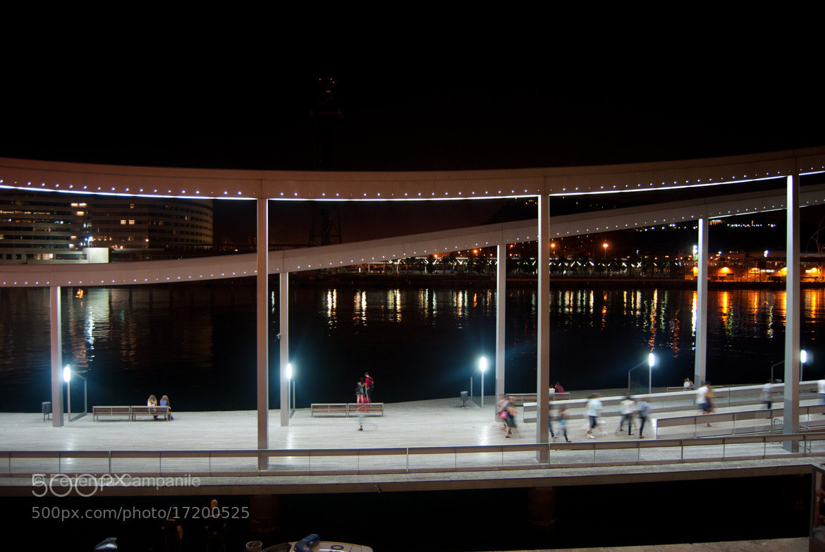 Photograph Rambla de Mar by night by Federica Campanile on 500px