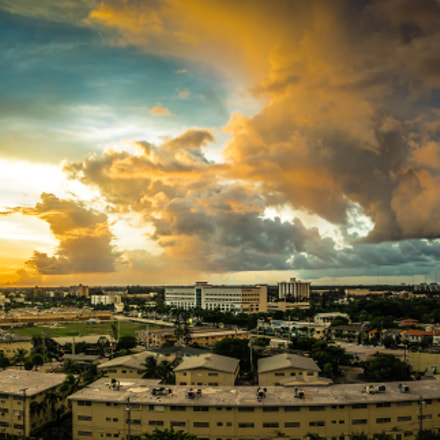 My Window Panoramic Sunset (HDR)
