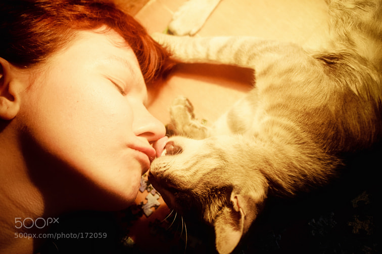 Photograph Me and my cat. by Anna Vesna on 500px