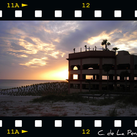 sunset panama city beach, Nikon COOLPIX L3