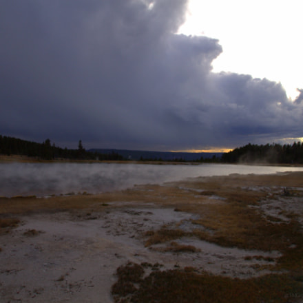 Storm over FireHole Lake, Canon EOS REBEL T3, Sigma 10-20mm f/3.5 EX DC HSM