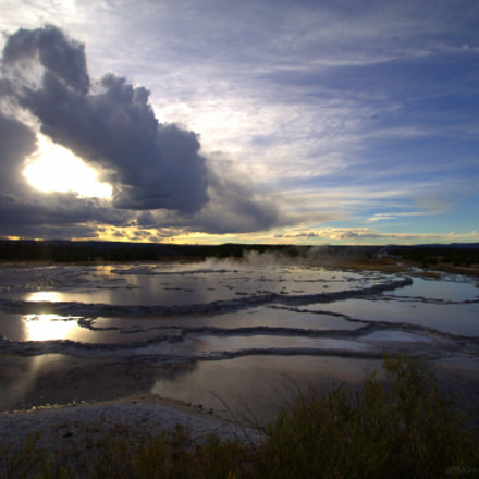 Yellowstone Sunset, Canon EOS REBEL T3, Sigma 10-20mm f/3.5 EX DC HSM