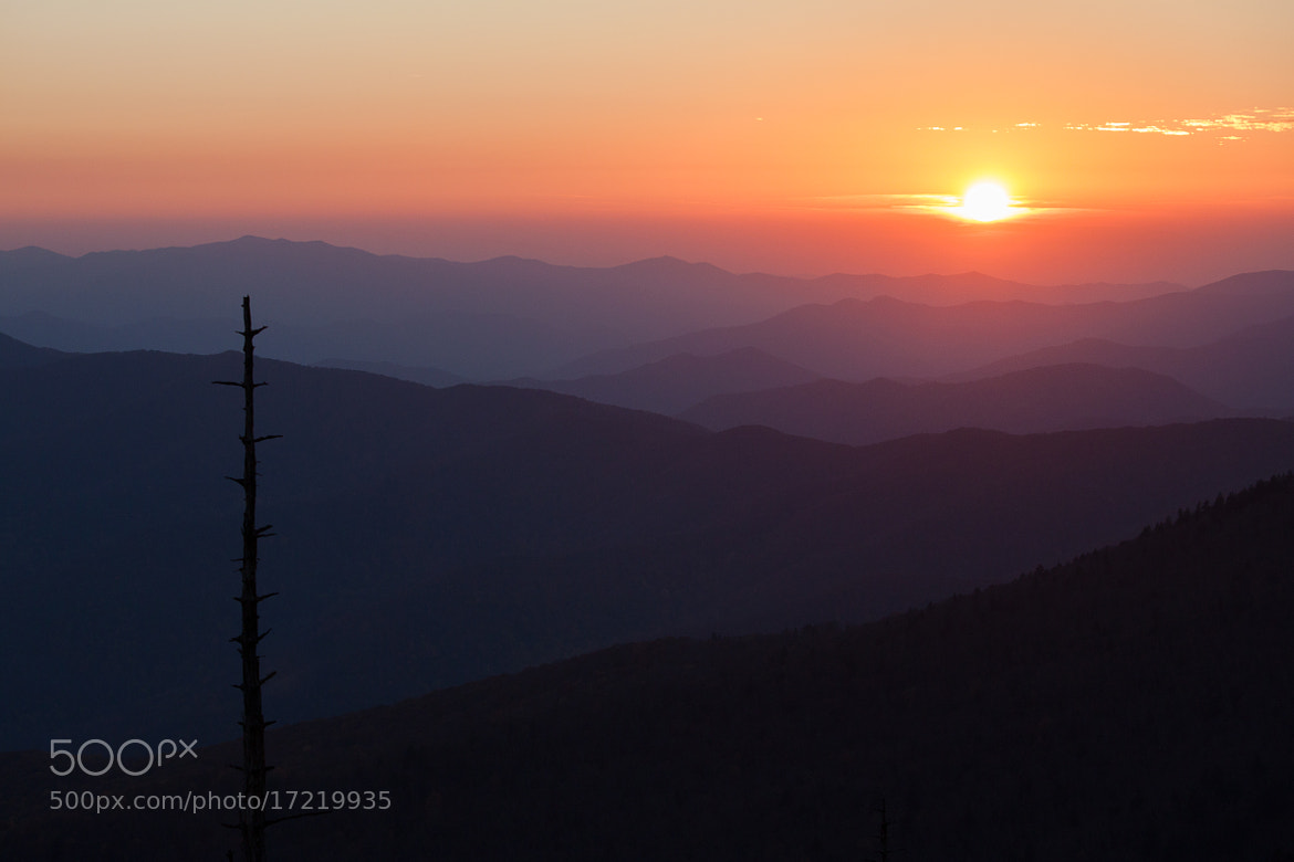 Photograph Smoky Mountain Sunset II by Derek W on 500px