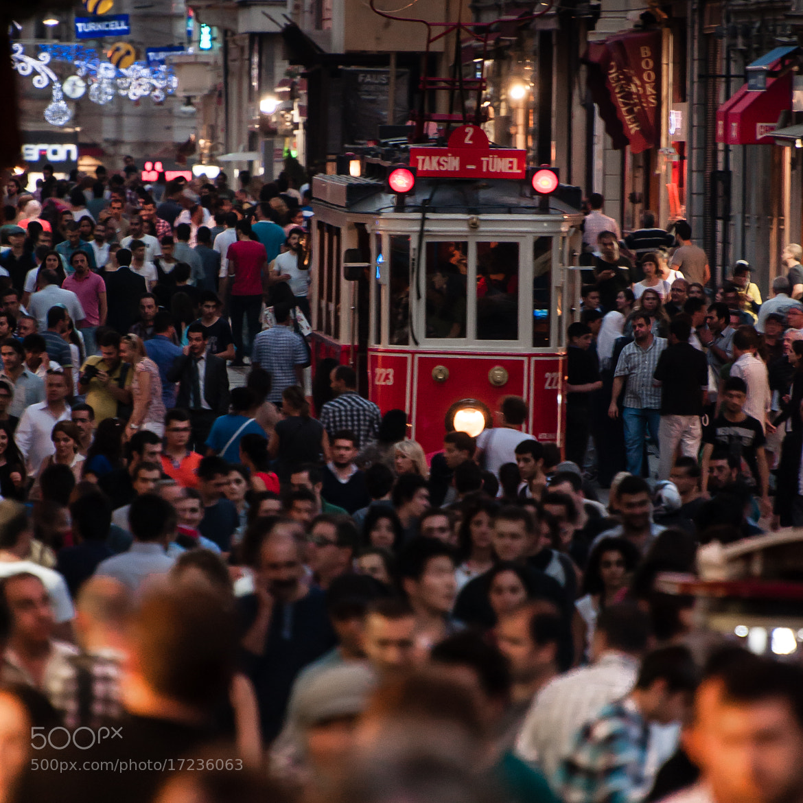 Photograph Istiklal Caddesi by Christoffer Gebel on 500px