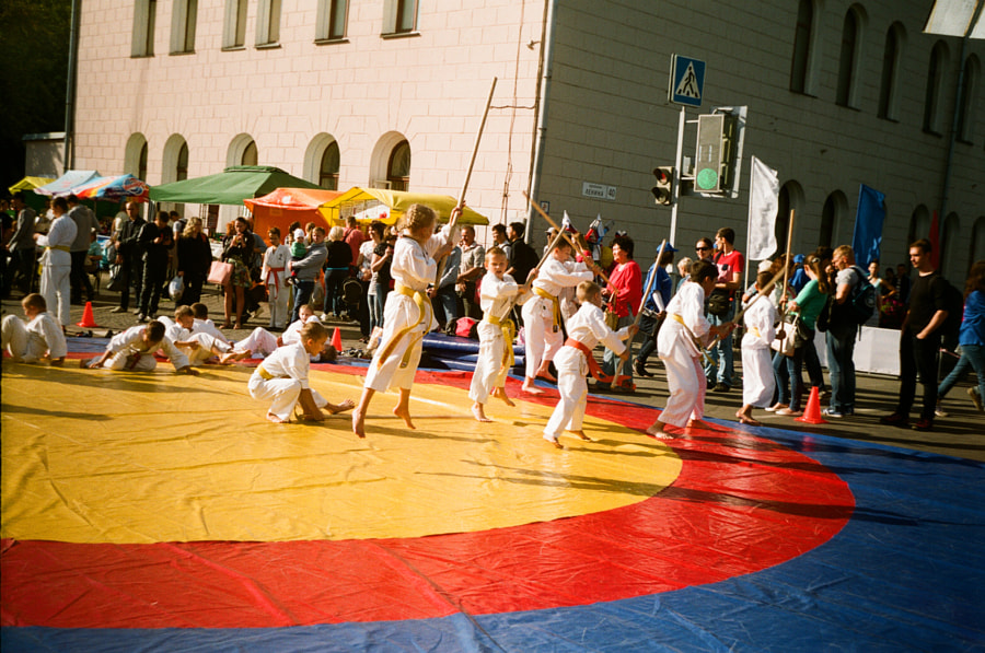 children karate performance