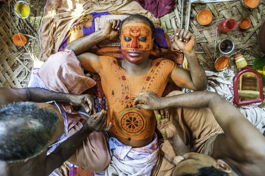 Theyyam Artist_DSC_2295_300.jpg by Manish Lakhani on 500px.com