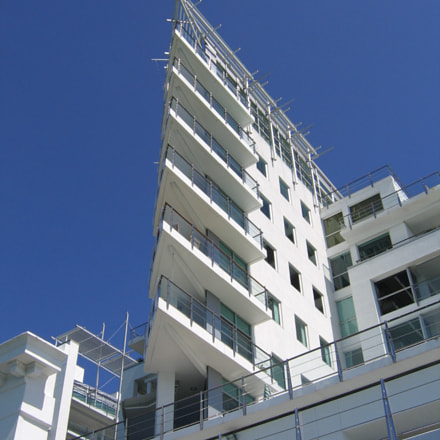 Building at Auckland Viaduct, Canon POWERSHOT A95