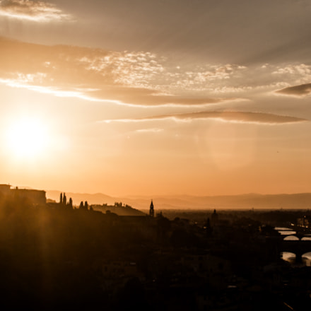 Sunset in Florence, Canon EOS 700D, Canon EF 35-135mm f/4-5.6 USM
