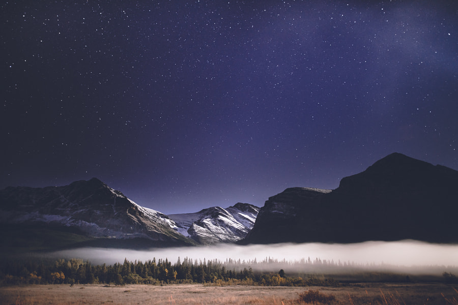 moonlit dreamscape in glacier national park by Zach Allia on 500px.com