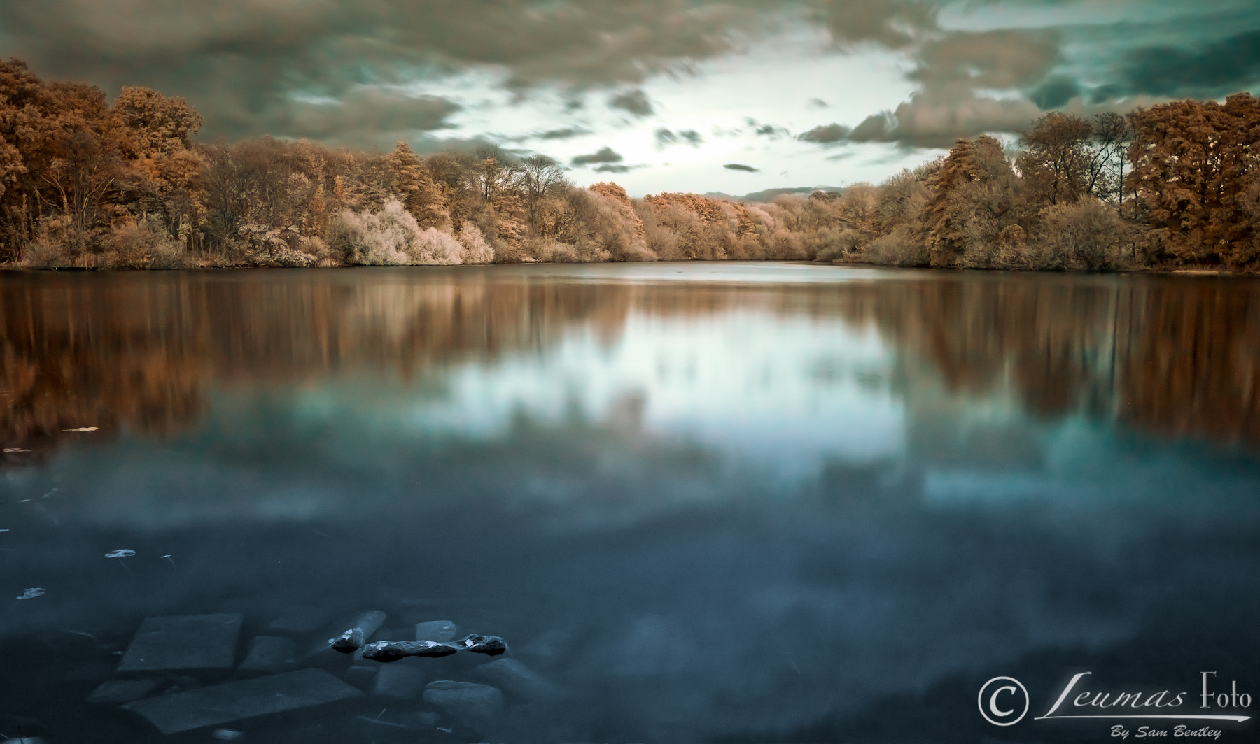 Photograph Still waters landscape in Infrared by Sam Bentley on 500px
