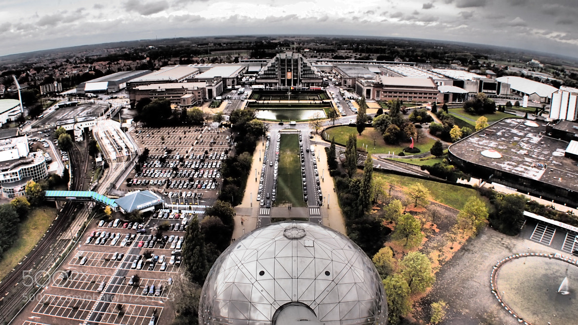 Photograph Atomium from the sky by Alessandro Gugino on 500px