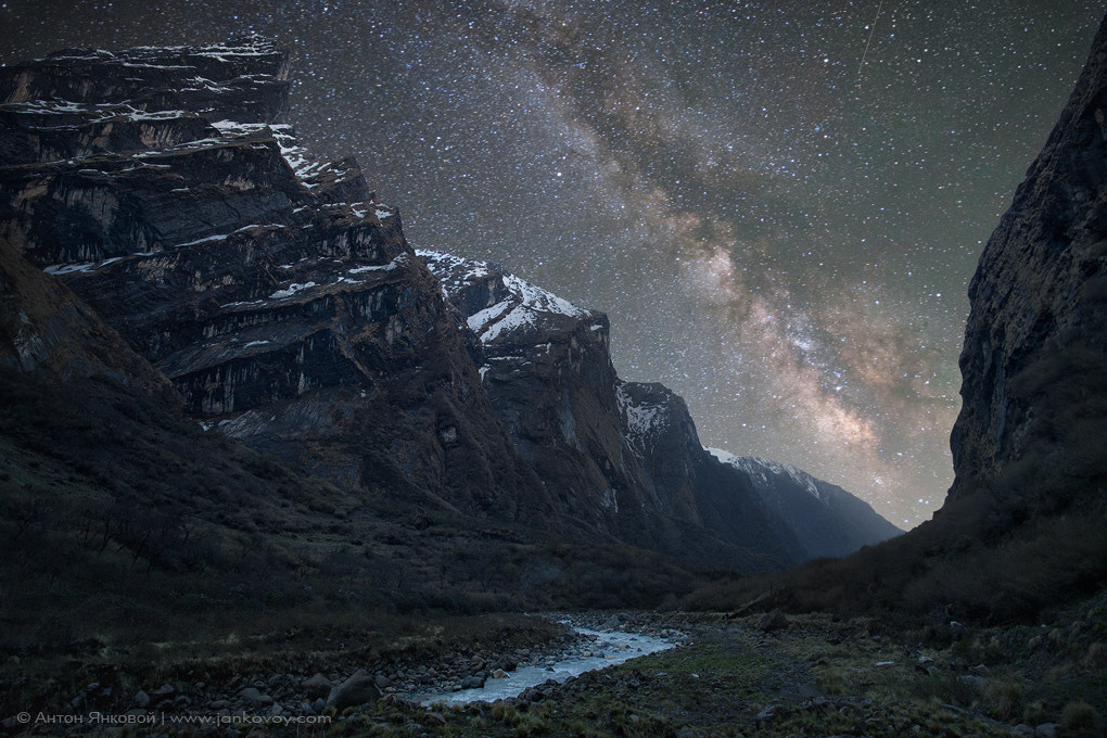 Photograph Milky Way above the Himalayas by Anton Jankovoy on 500px