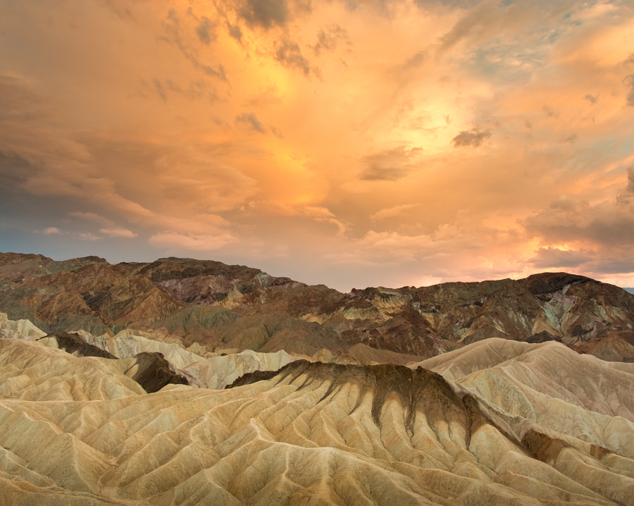 Zabriskie Point at sunset, Death Valley National Park