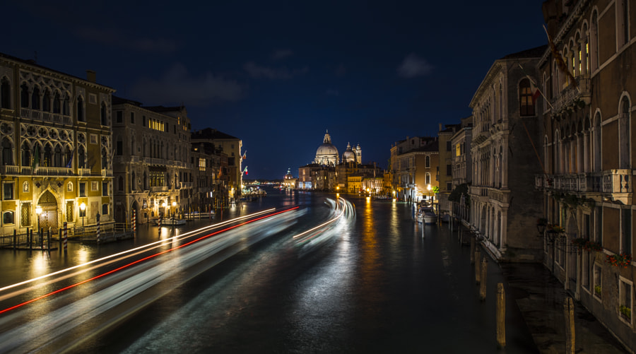 light trails in Venice by Carmine Chiriacò on 500px.com