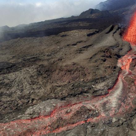 Volcanic eruption Piton de la Fournaise 09/2016