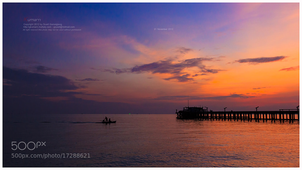 Photograph Sunset Rayong by Suwit Gamolglang on 500px
