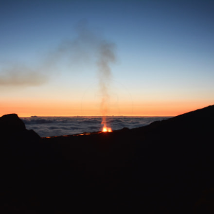 Volcanic eruption Piton de la Fournaise 2-09/2016