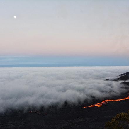 Volcanic eruption Piton de la Fournaise 4-09/2016