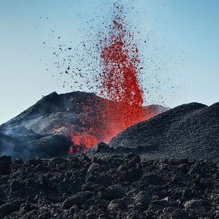 Volcanic eruption Piton de la Fournaise 6-09/2016