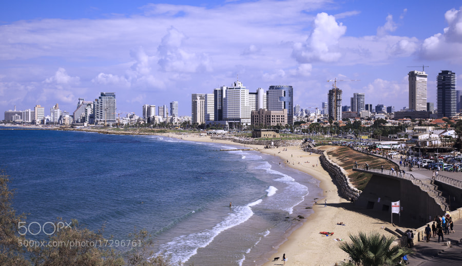 Photograph Tel Aviv Beach Panorama by Uri Baruch on 500px
