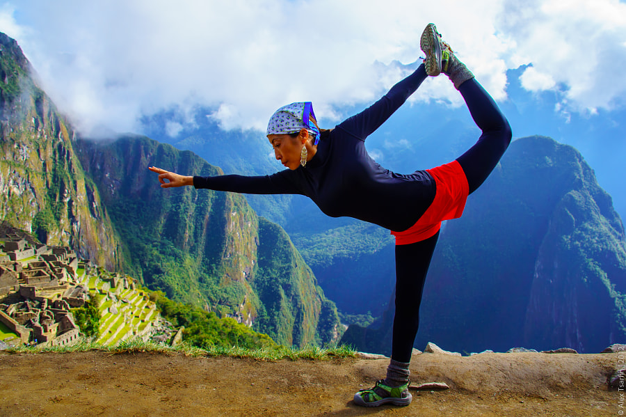 Machu Picchu Yoga by Alex Tsarfin on 500px.com