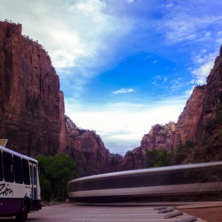 The Train In Zion, Nikon D800, Sigma 28-200mm F3.5-5.6 Compact Aspherical Hyperzoom Macro