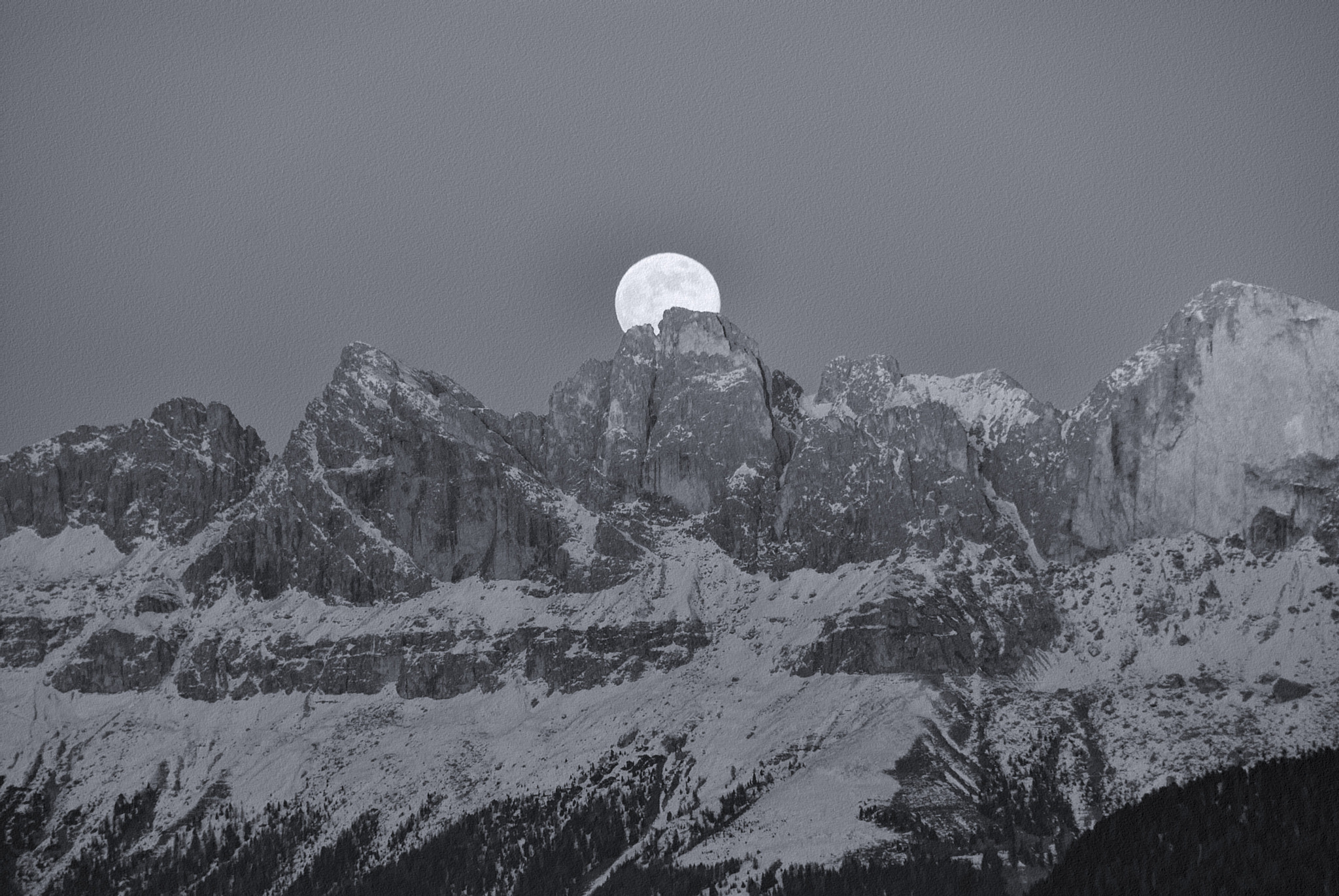 Photograph MOONRISE OVER JOCHGRIMM by Duschan Tomic on 500px