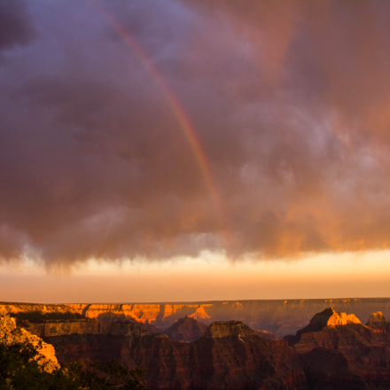 North rim sunset with, Canon EOS REBEL T2I, Tamron 18-250mm f/3.5-6.3 Di II LD Aspherical [IF] Macro