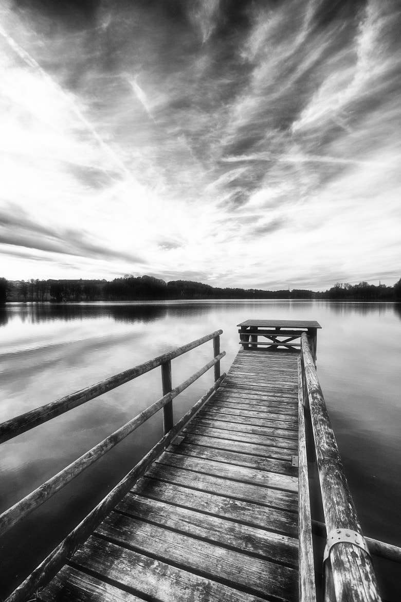 Photograph Lakeside monochrome by Hartmut Albert on 500px