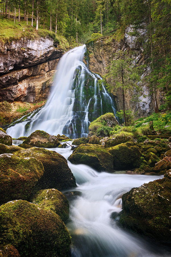 Photograph Gollinger Cascade by Michael  Breitung on 500px