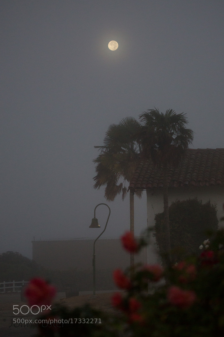 Photograph Mission Soledad, full moon in the fog by John Foster on 500px