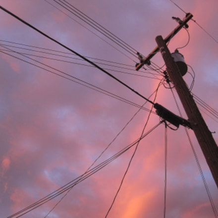 sunset and wires, Canon POWERSHOT SD1200 IS