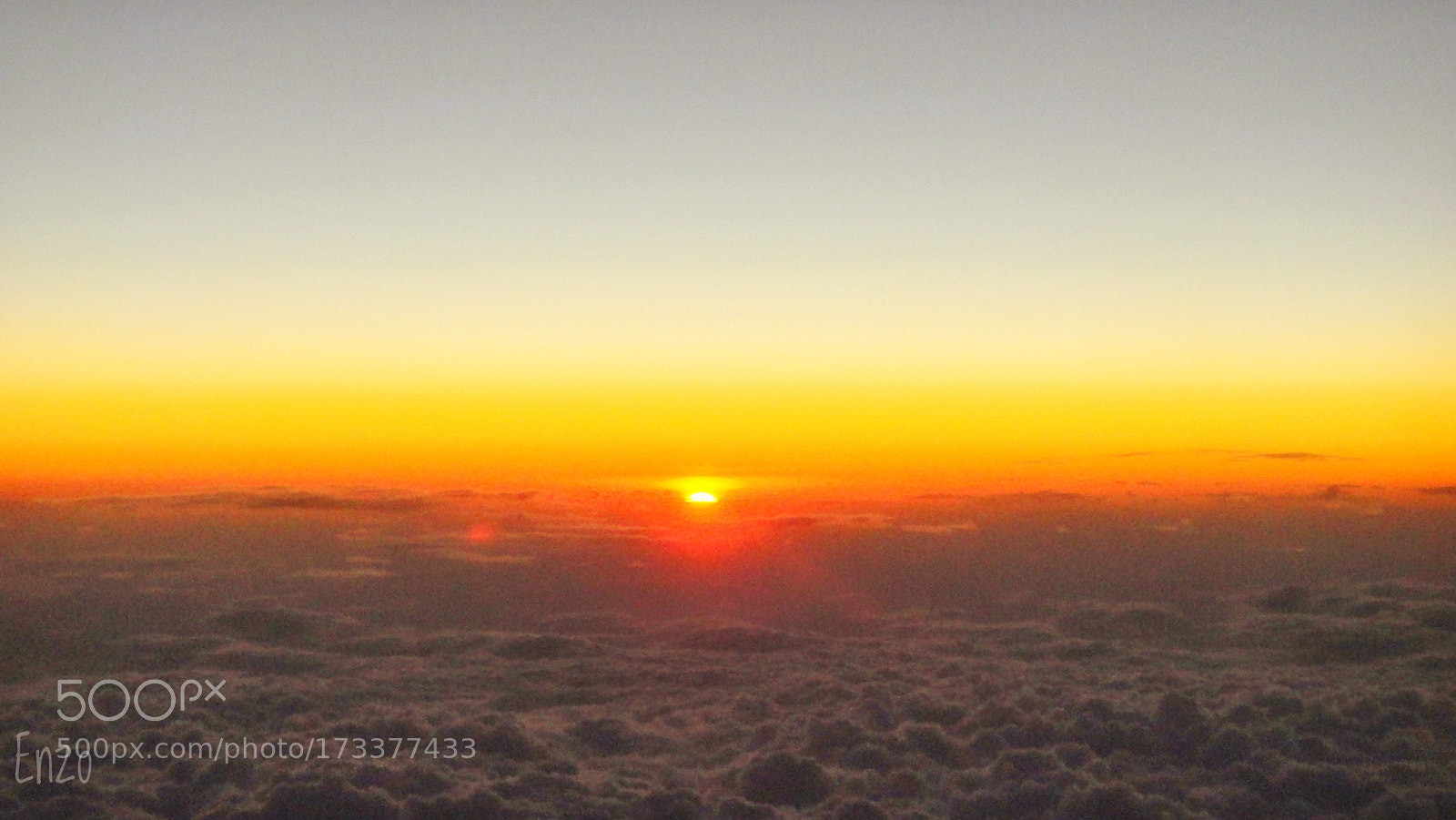 Sunset in the sky