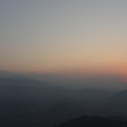 Sunrise view from 1592m, Sony DSC-H55