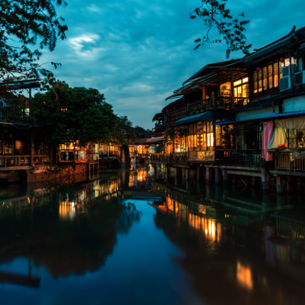Quiet Dusk at Zhujiajiao, Canon EOS REBEL T5, Canon EF-S 10-22mm f/3.5-4.5 USM