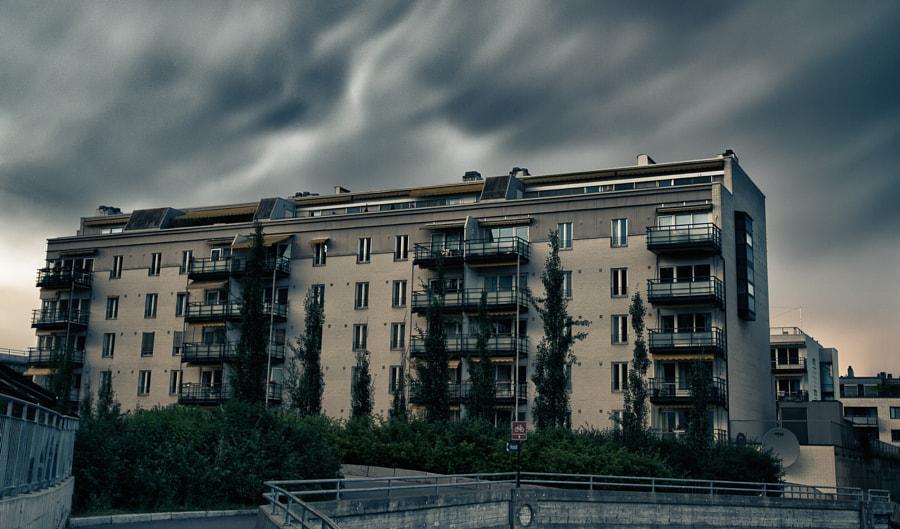Crazy clouds in Sandvika