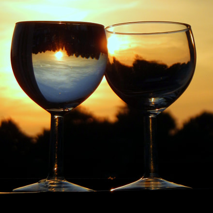 Cheers to sunsets!, Nikon COOLPIX S800c