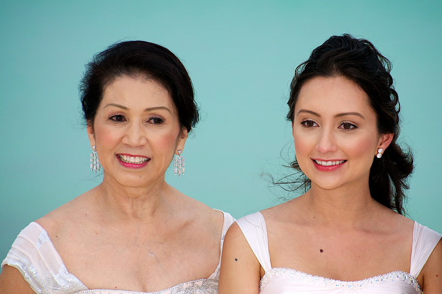 The beautiful bride and her mother